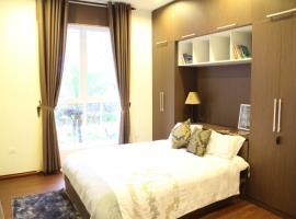Nội thất phòng ngủ căn hộ mẫu Berriver Long Biên