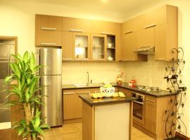 Phối cảnh khu bếp nhà mẫu Berriver Long Biên
