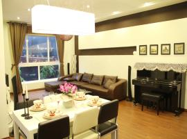 Phòng khách căn hộ mẫu Berriver Long Biên