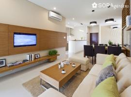 Phòng khách căn hộ chung cư Sora gardens