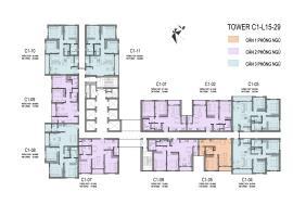 Sơ đồ chi tiết tòa C1 tầng 15-29