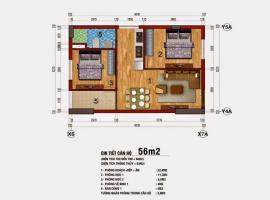 Căn hộ 56m2 chung cư 283 Khương Trung