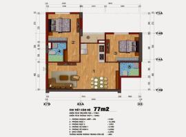 Căn hộ 77m2 chung cư 283 Khương Trung
