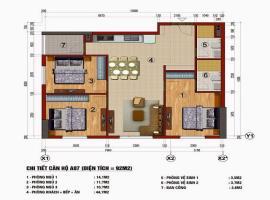 Căn hộ 92 m2 chung cư 283 Khương Trung