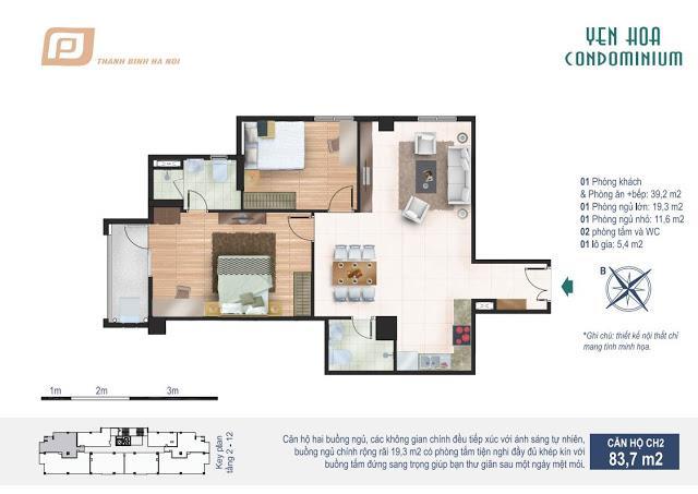 CH2 Chung cư Yên Hòa Condominium