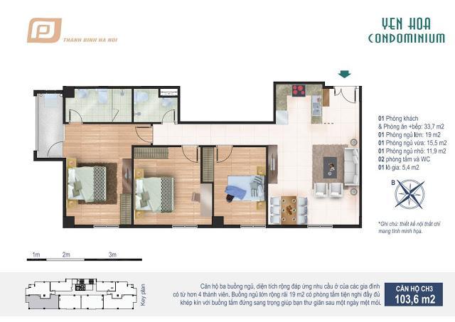CH3 Chung cư Yên Hòa Condominium