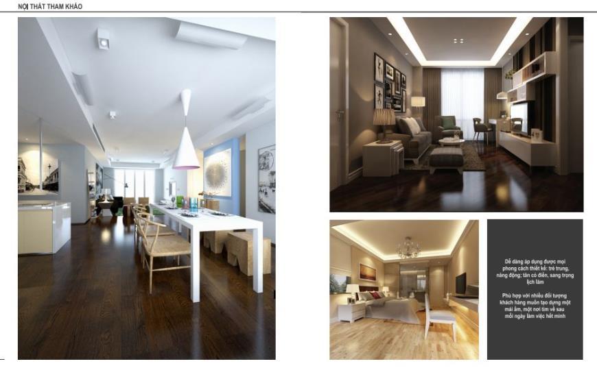 Thiết kế nội thất tại chung cư Yên Hòa Condominium