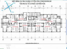 Mặt bằng tầng điển hình chung cư Condominium Yên H