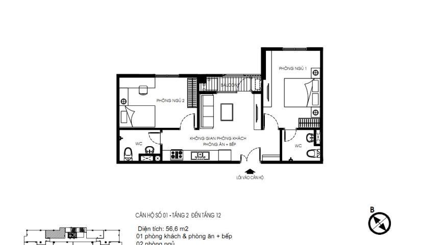 Bán căn hộ 01 tòa N01 Yên Hòa Condominium
