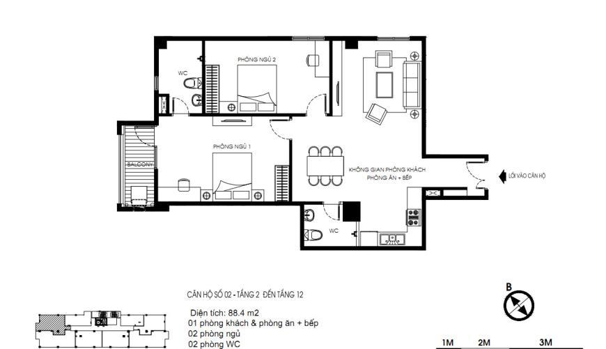 02 Tòa N01 tầng 8-12 tầng 12-