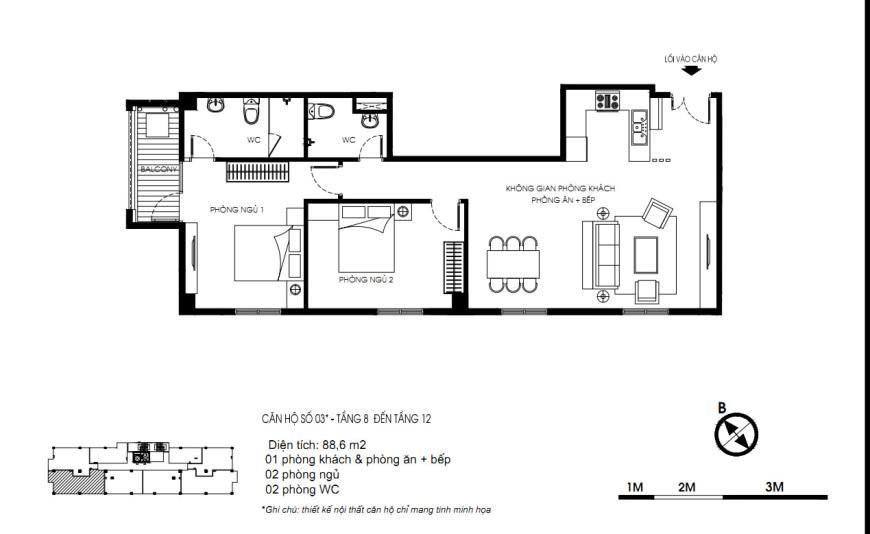 03 Tòa N01 tầng 8-12 tầng 12-