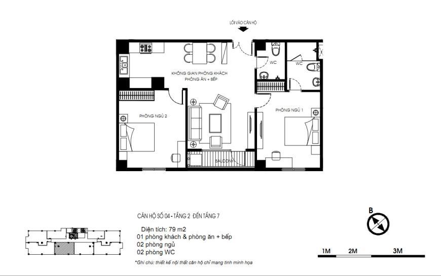 04 Tòa N01 tầng 2-7 tầng 3