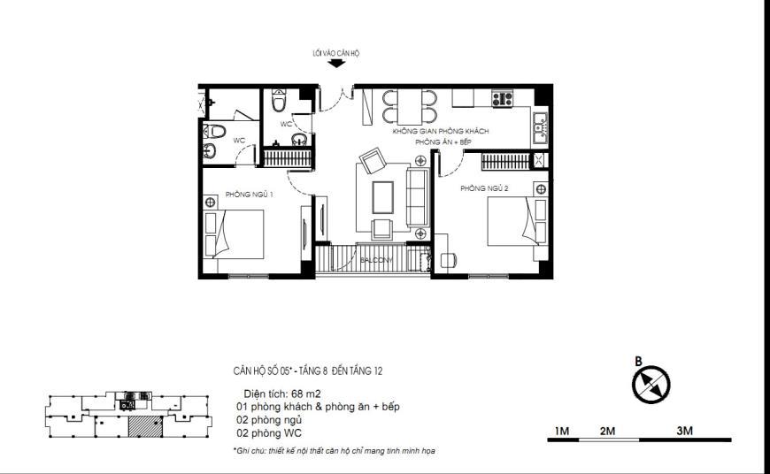 05 Tòa N01 tầng 8-12 tầng 12-