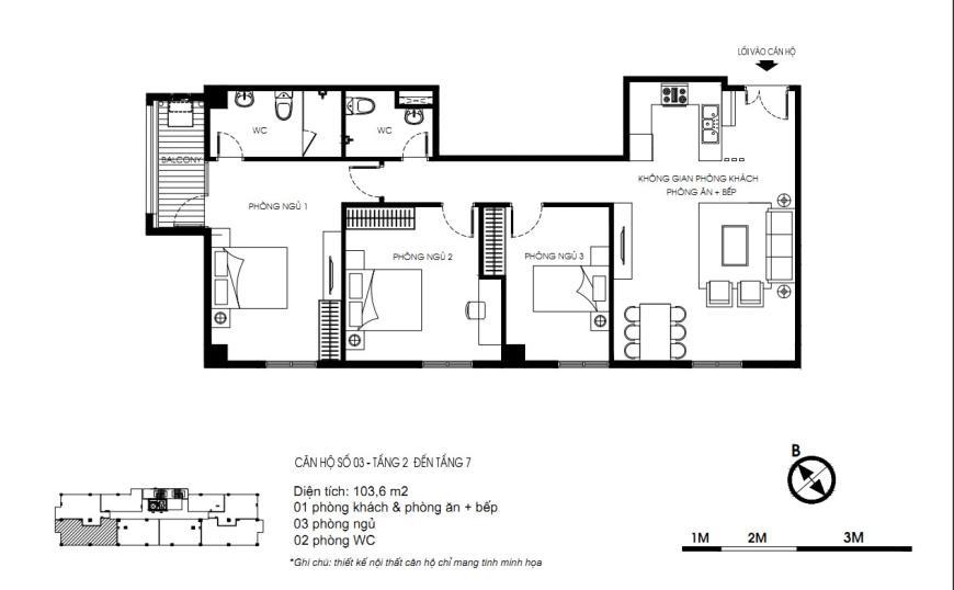 Căn 03 Tòa N01 tầng 7