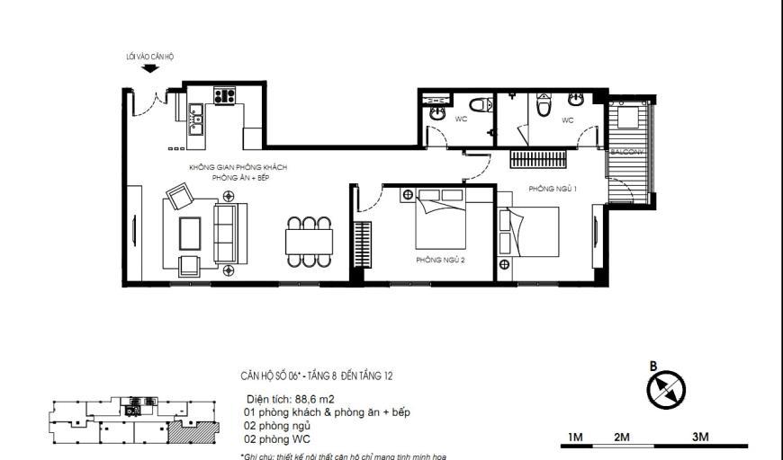 06 Tòa N01 tầng 8-12 tầng 8