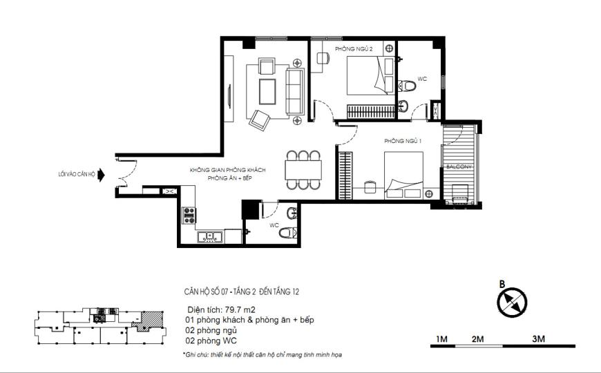 07 Tòa N01 tầng 2-7 tầng 3