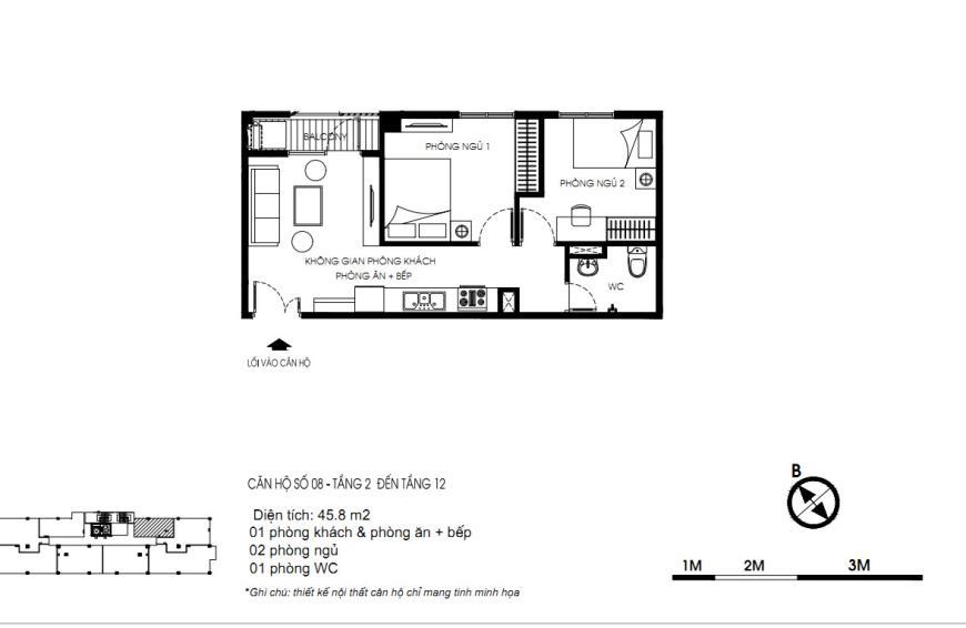 08 Tòa N01 tầng 2-7 tầng 7- Chung cư Yên Hòa Condominium