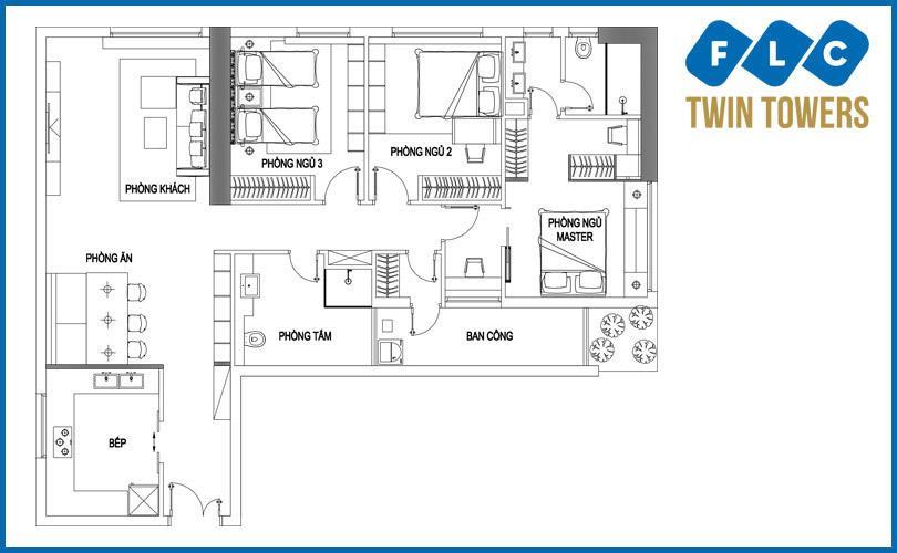 Bán căn E-10 FLC Twin Towers 265 Cầu Giấy