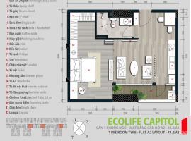 Căn số 12 Tòa A1 tầng 22 Ecolife Capitol - Tầng: 22