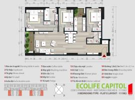 Căn số 11A Tòa A1 tầng 22 Ecolife Capitol - Tầng: 22