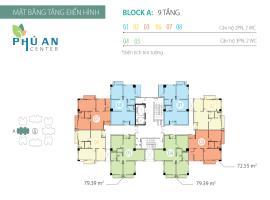 Mặt bằng tầng điển hình Block A căn hộ Phú An Cent
