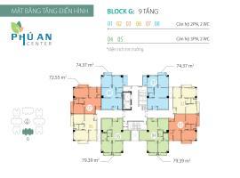 Mặt bằng tầng điển hình Block G căn hộ Phú An Cent