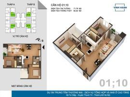 01 Tháp B tầng 9-Chung cư Tứ Hiệp Plaza - Tầng: 9