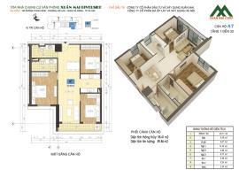 Căn A7 tầng 8 Chung cư Xuân mai Riverside - Tầng: 8