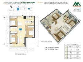Căn A7* tầng 8 Chung cư Xuân mai Riverside - Tầng: 8