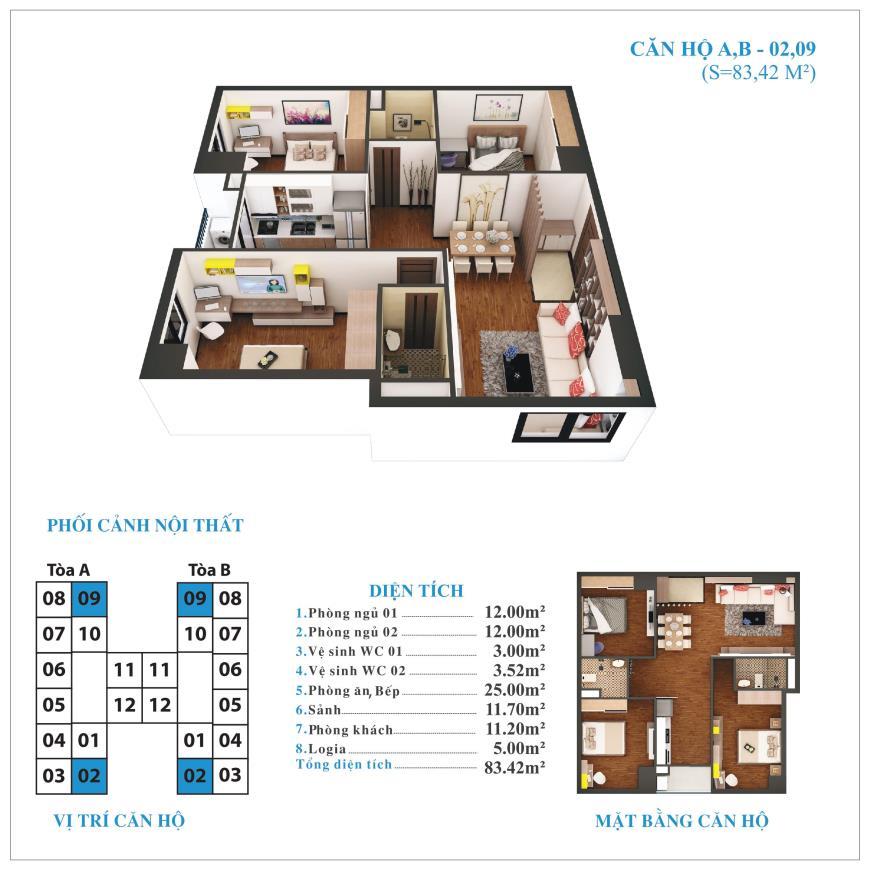 Căn hộ 02, 09 chung cư Tứ Hiệp Plaza