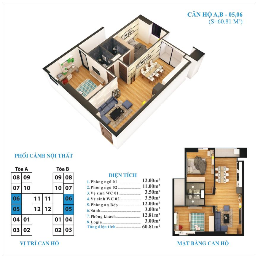 Căn hộ 05,06 chung cư Tứ Hiệp Plaza