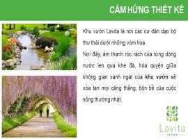 Tiện ích xanh xung quanh căn hộ Laviat Garden