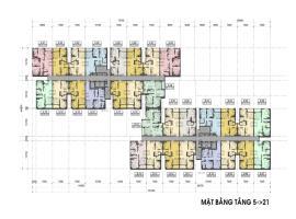 Mặt bằng tầng 5-21 căn hộ Auris city