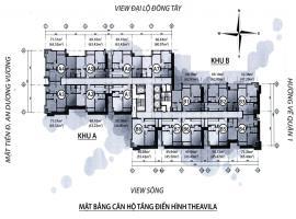 Mặt bằng tầng điển hình căn hộ The Avila