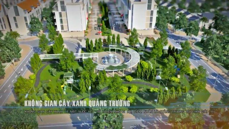 Không gian cây xanh quảng trường