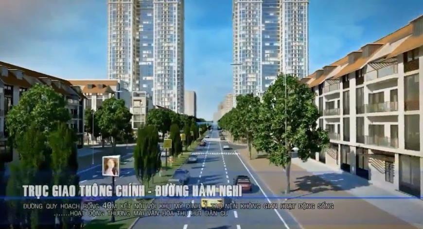 Trục giao thông chính- đường Hàm Nghi