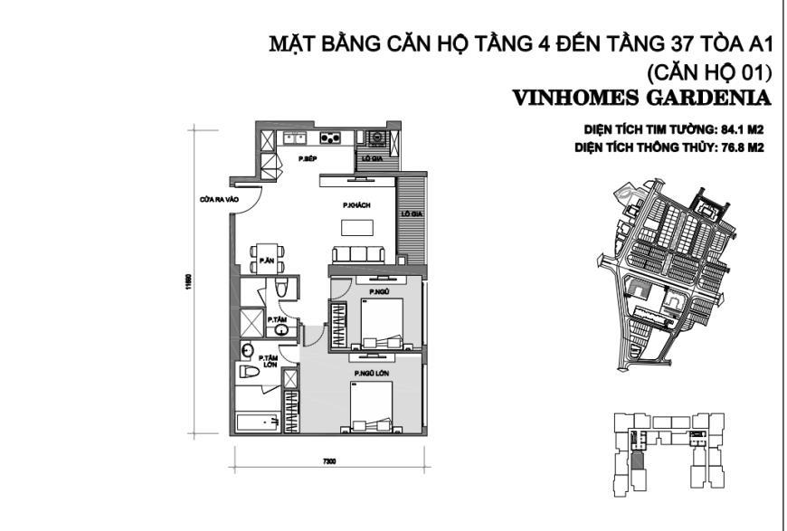 Căn hộ 01 chung cư Vinhomes Gardenia