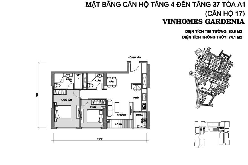 Căn 17 Tòa A1 tầng 28-Vinhomes Gardenia Mỹ Đình