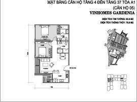 Căn 05 Tòa A1 tầng 36-Vinhomes Gardenia Mỹ Đình
