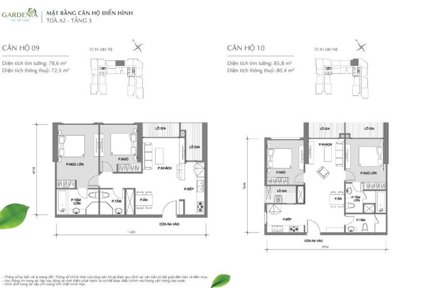Bán căn 10 Tòa A2 tầng 18-Vinhomes Gardenia Mỹ Đình