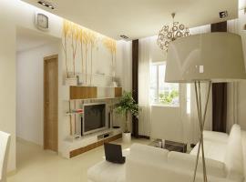 Phối cảnh phòng khách chung cư Ruby Towers