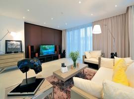 Phòng khách tại dự án Blue Sapphire Resort Vũng Tà