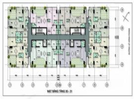 Mặt bằng tầng 30-31 dự án Sơn Thịnh