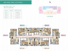 Mặt bằng tầng 3-12A tháp D  dự án Xuân Phương Resi