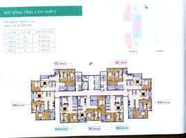Mặt bằng tầng 3-12A tháp E  dự án Xuân Phương Resi