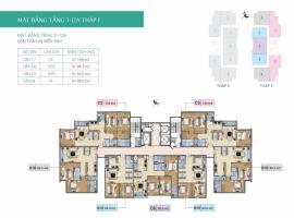Mặt bằng tầng 3-12A tháp F  dự án Xuân Phương Resi