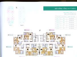 Mặt bằng tầng 4-17  tháp E dự án Xuân Phương Resid