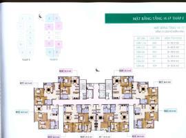 Mặt bằng tầng 4-17  tháp F dự án Xuân Phương Resid
