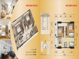 Căn hộ 03B' tòa B, diện tích 79,5 m2