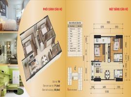 Căn hộ 07B tòa B, diện tích 71,6 m2